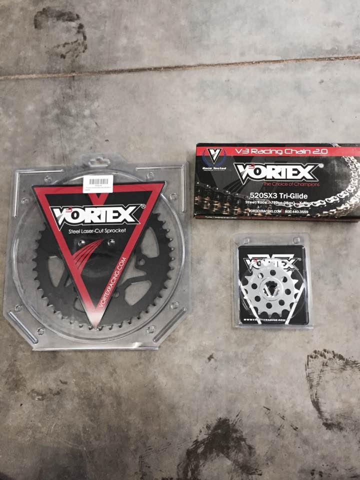 Vortex Chain and Sprocket Kit